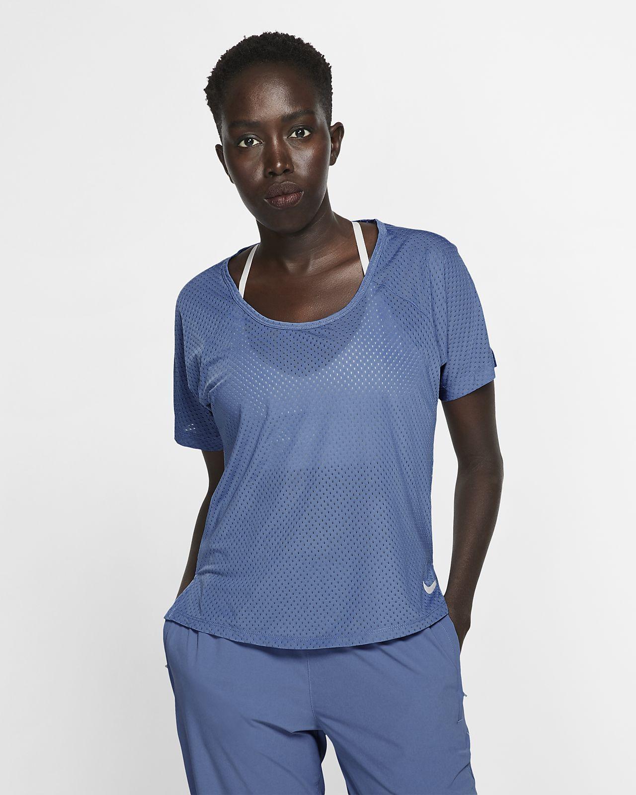 เสื้อวิ่งผู้หญิง Nike Breathe Miler