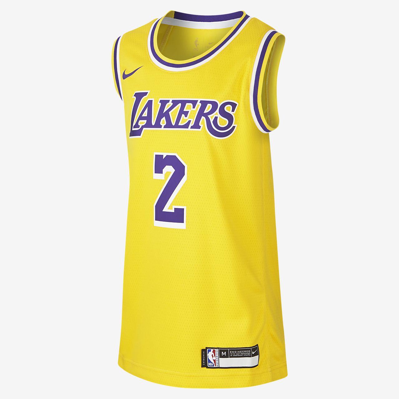 Lonzo Ball Los Angeles Lakers Nike Icon Edition Swingman NBA-jersey voor kids