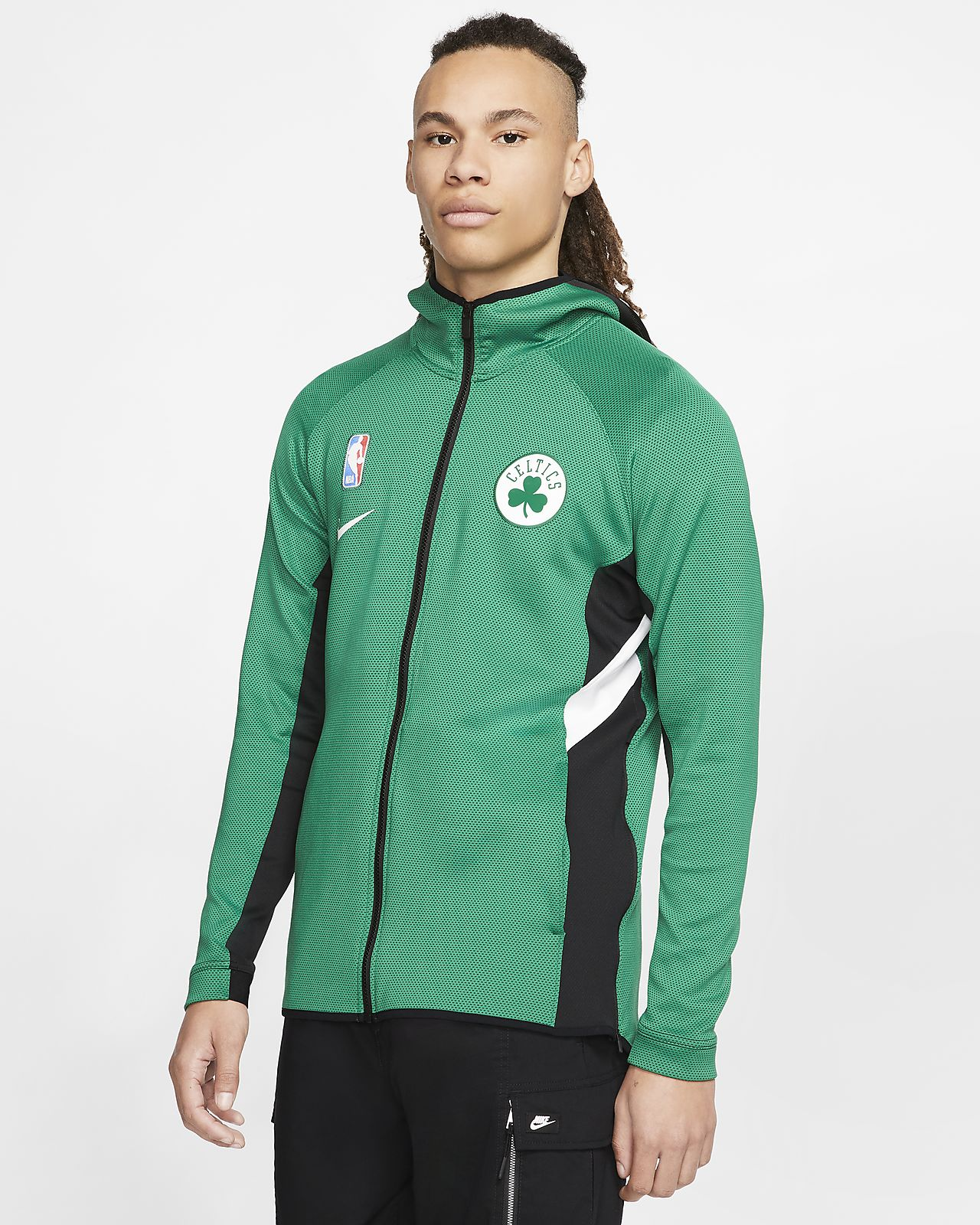 Boston Celtics Nike Therma Flex Showtime NBA Erkek Kapüşonlu Üst
