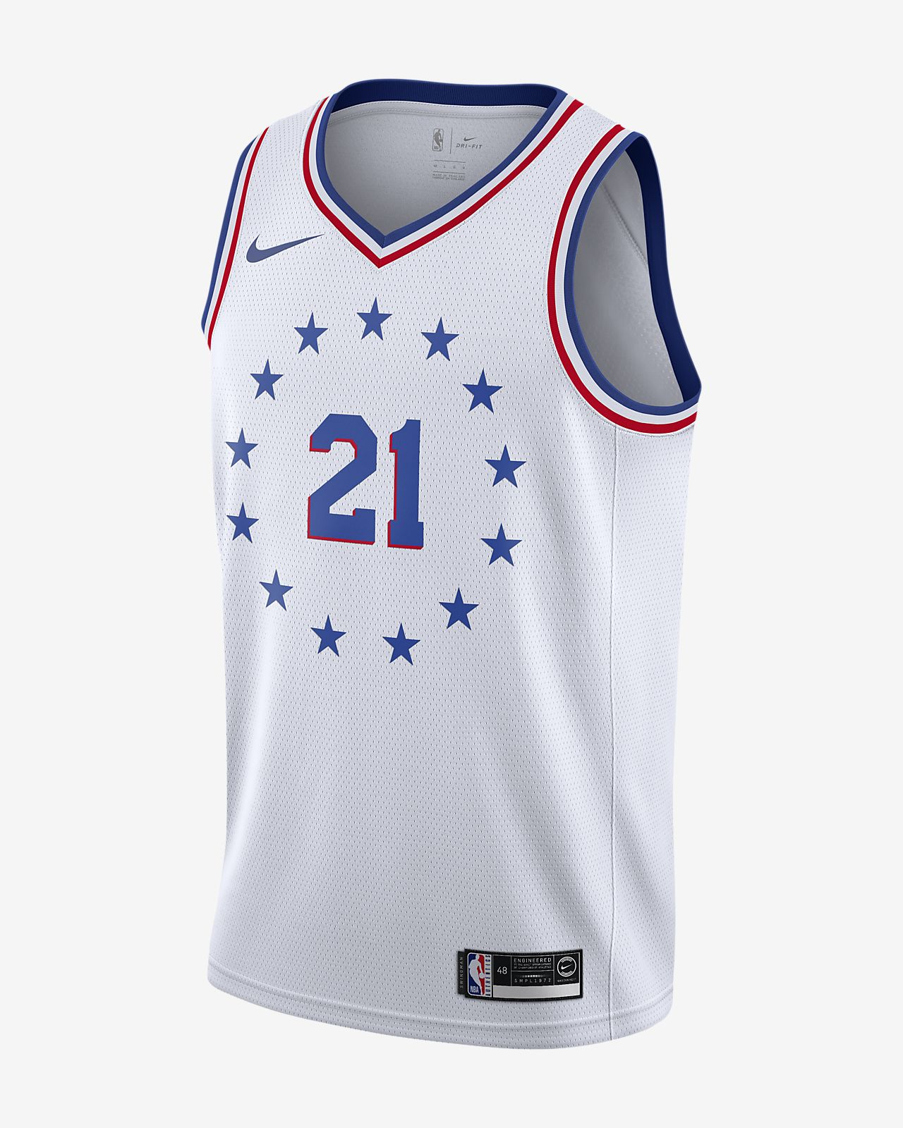 Maillot connecté Nike NBA Joel Embiid Earned City Edition Swingman (Philadelphia 76ers) pour Homme
