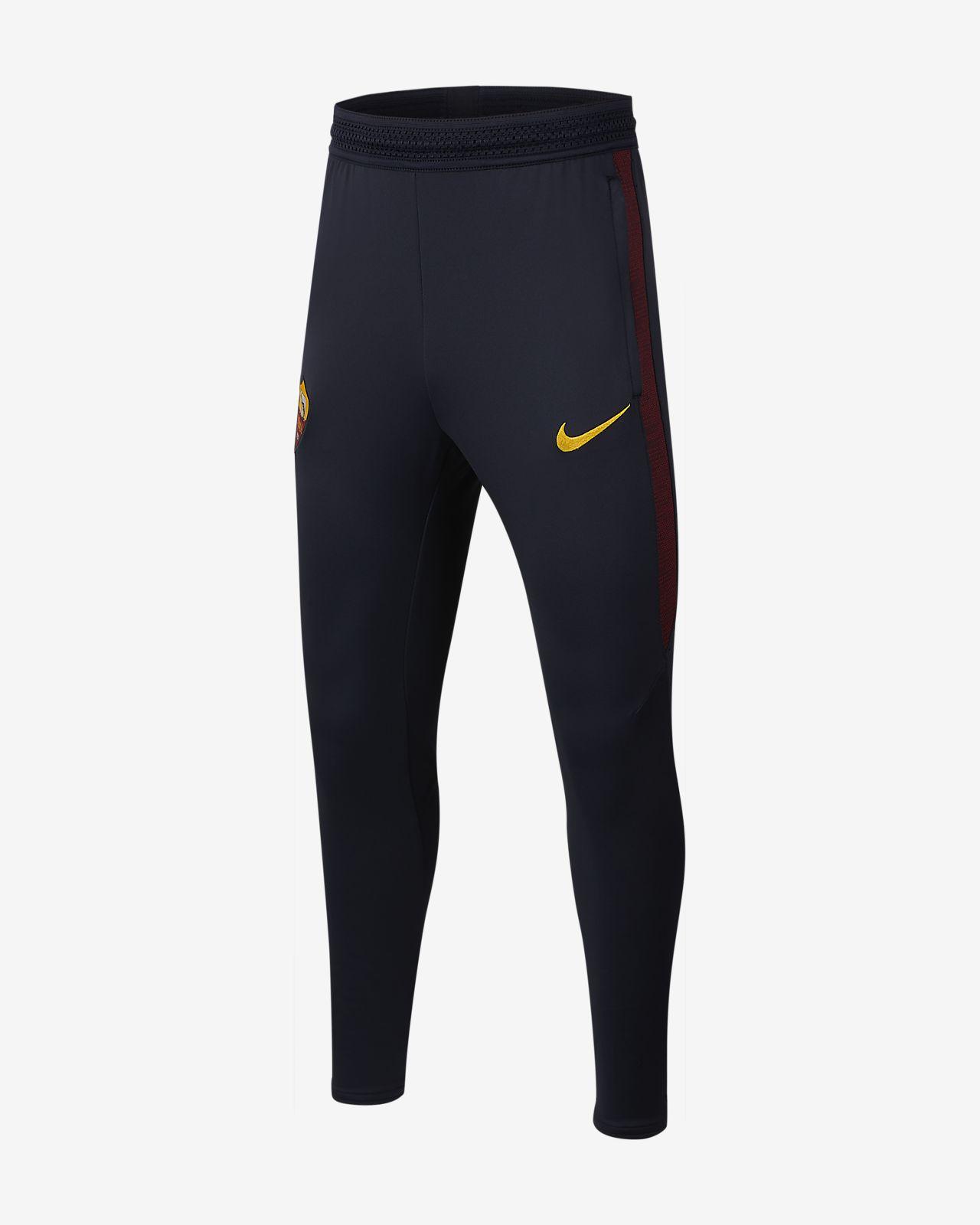 Pantalones de fútbol para niño talla grande Nike Dri-FIT A.S. Roma Strike