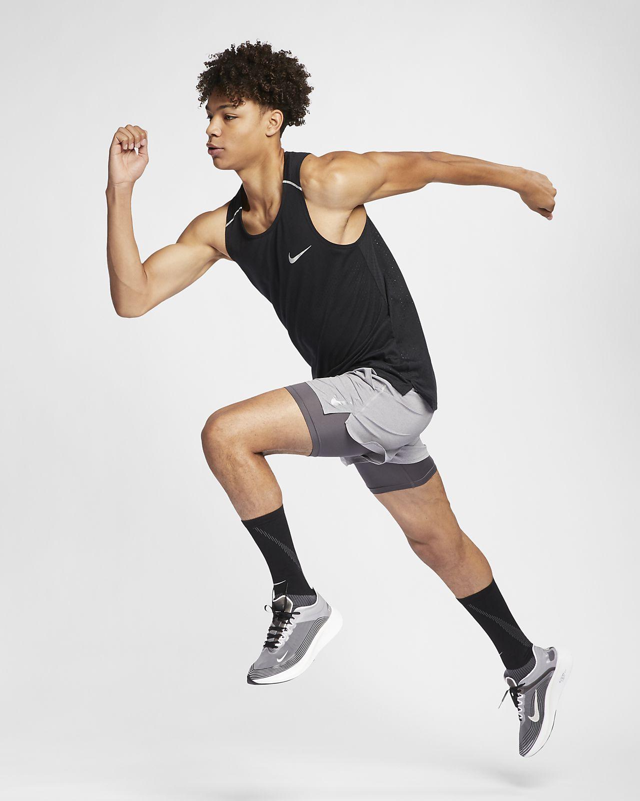 Canotta da running Nike Rise 365 Uomo