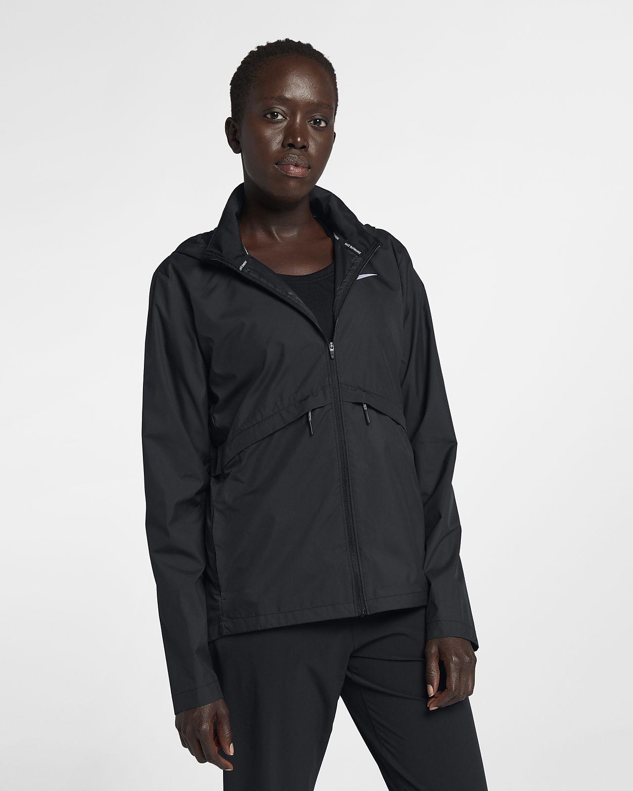 Damska, łatwo pakowana przeciwdeszczowa kurtka do biegania Nike Essential