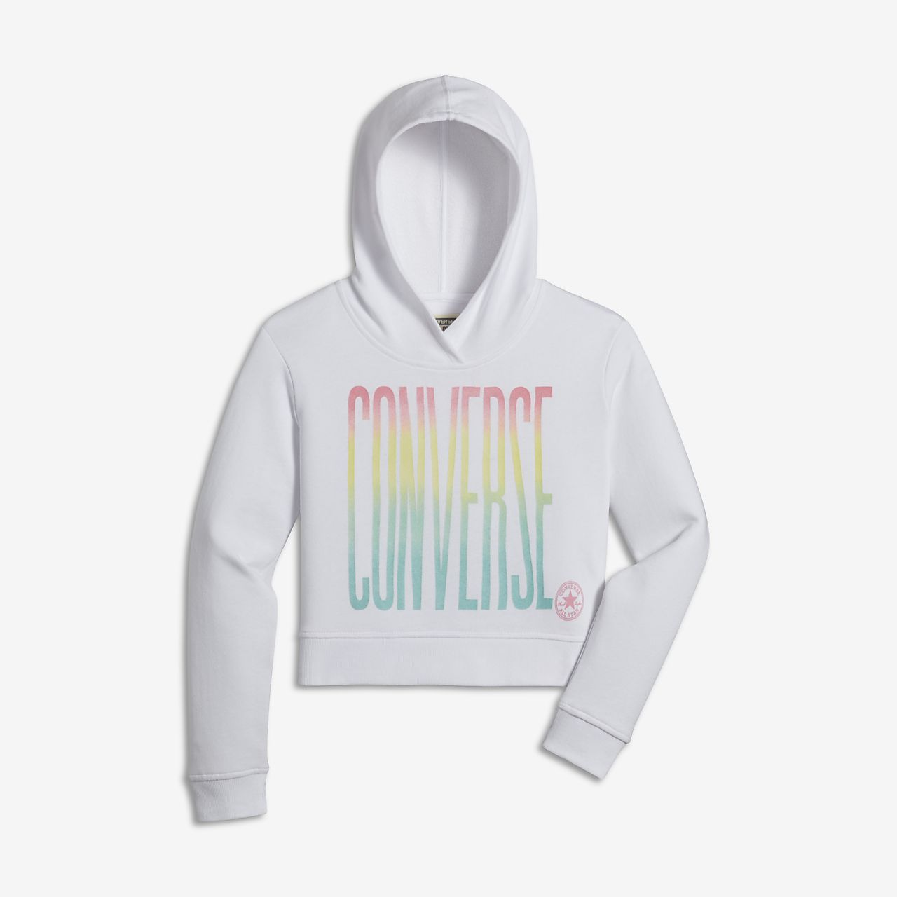 Converse Ombre Cropped Big Kids Girls Pullover Hoodie -4965