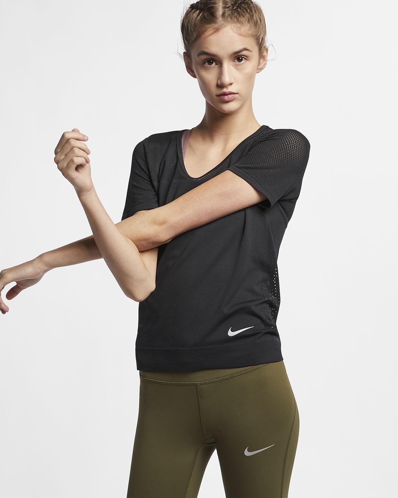 Prenda para la parte superior de running de manga corta para mujer Nike Infinite
