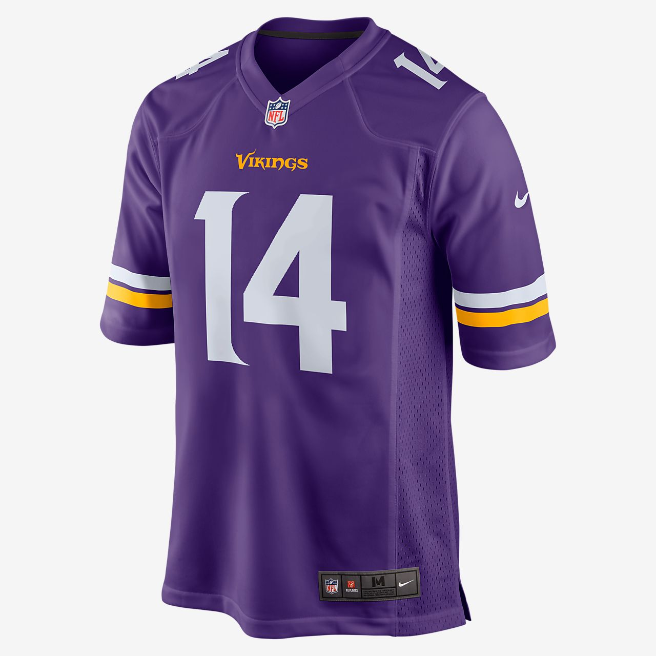 a6b847be18d NFL Minnesota Vikings (Stefon Diggs) Men s Football Home Game Jersey ...
