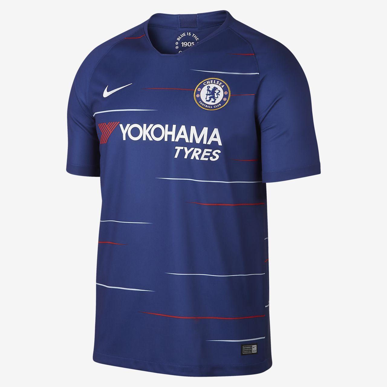 6500321c163aa Camiseta de fútbol para hombres 2018 19 Chelsea FC Stadium Home ...