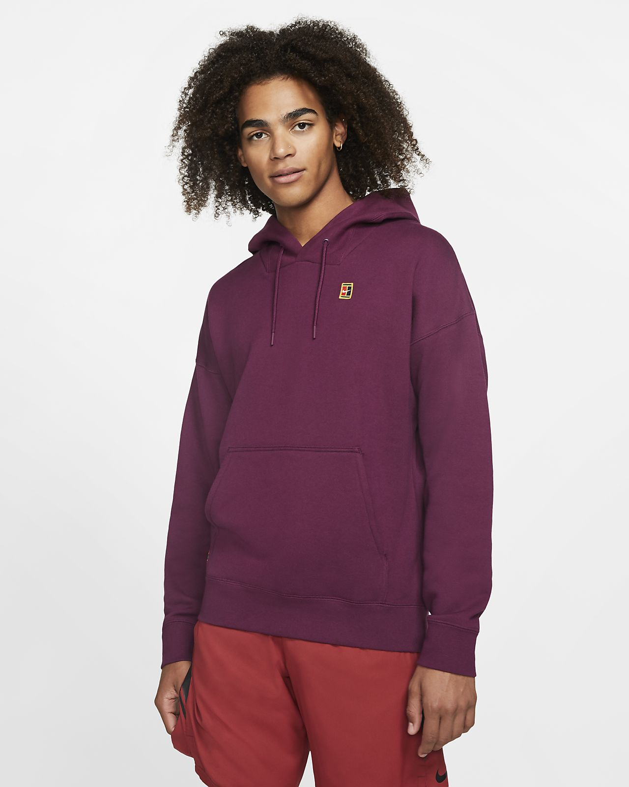 Felpa da tennis con cappuccio in fleece NikeCourt - Uomo