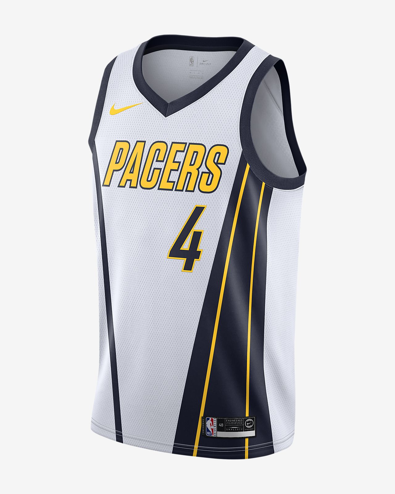 Jersey conectada Nike NBA para hombre Victor Oladipo Earned City Edition Swingman (Indiana Pacers)