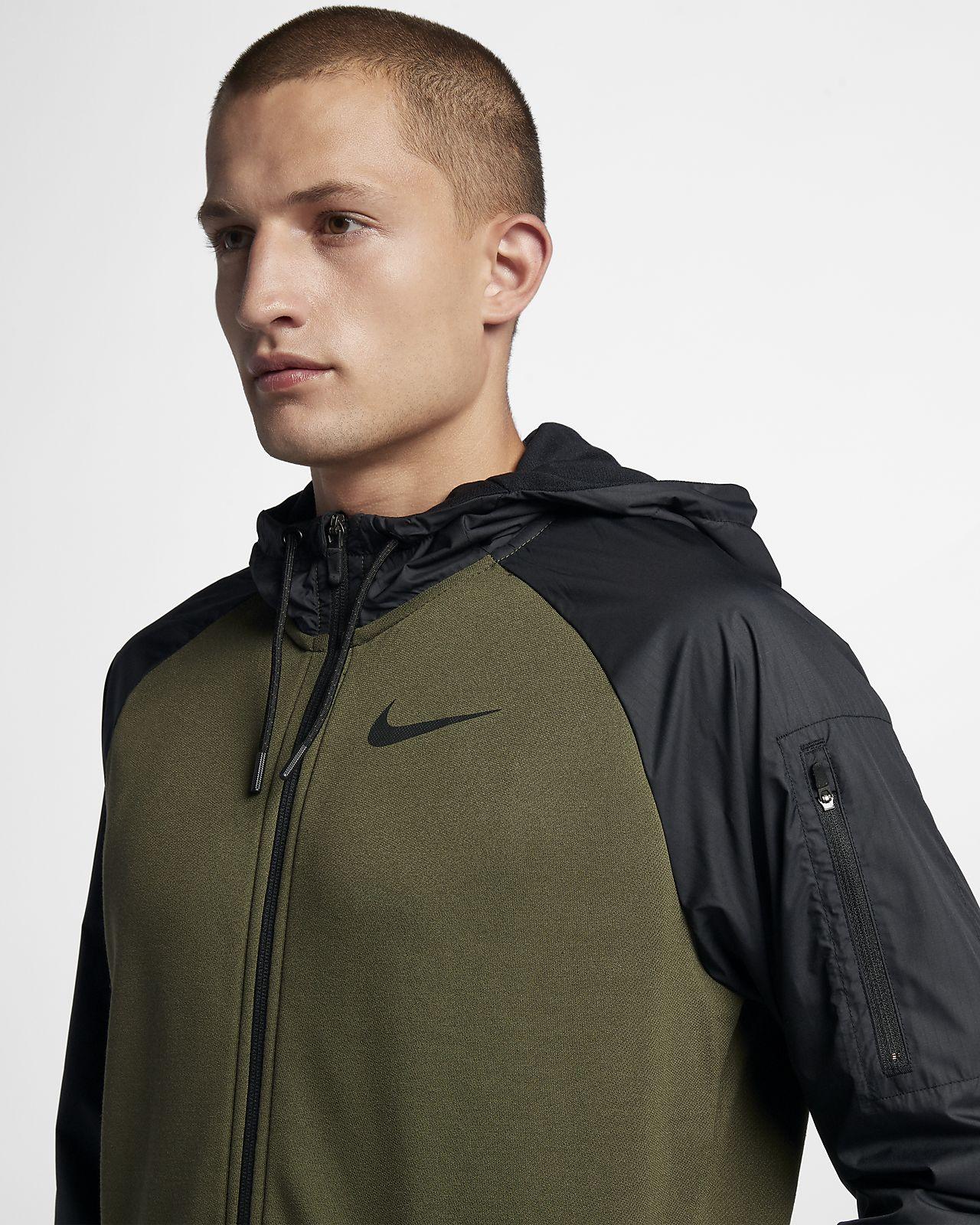 Nike Dri-FIT Utility hosszú cipzáras, kapucnis férfi edzőpulóver