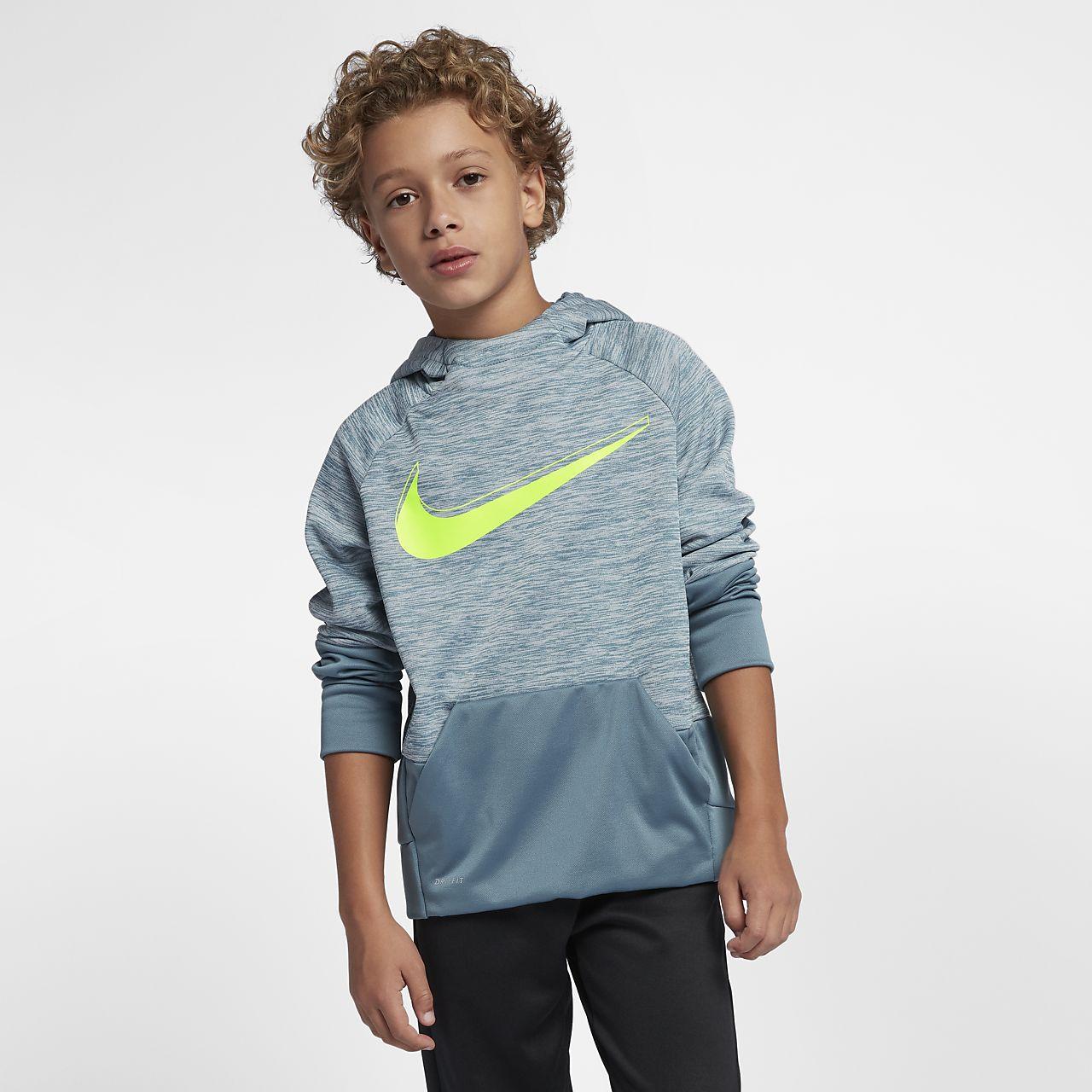 d99a58fb Nike Dri-FIT Therma Big Kids' (Boys') Pullover Training Hoodie. Nike.com