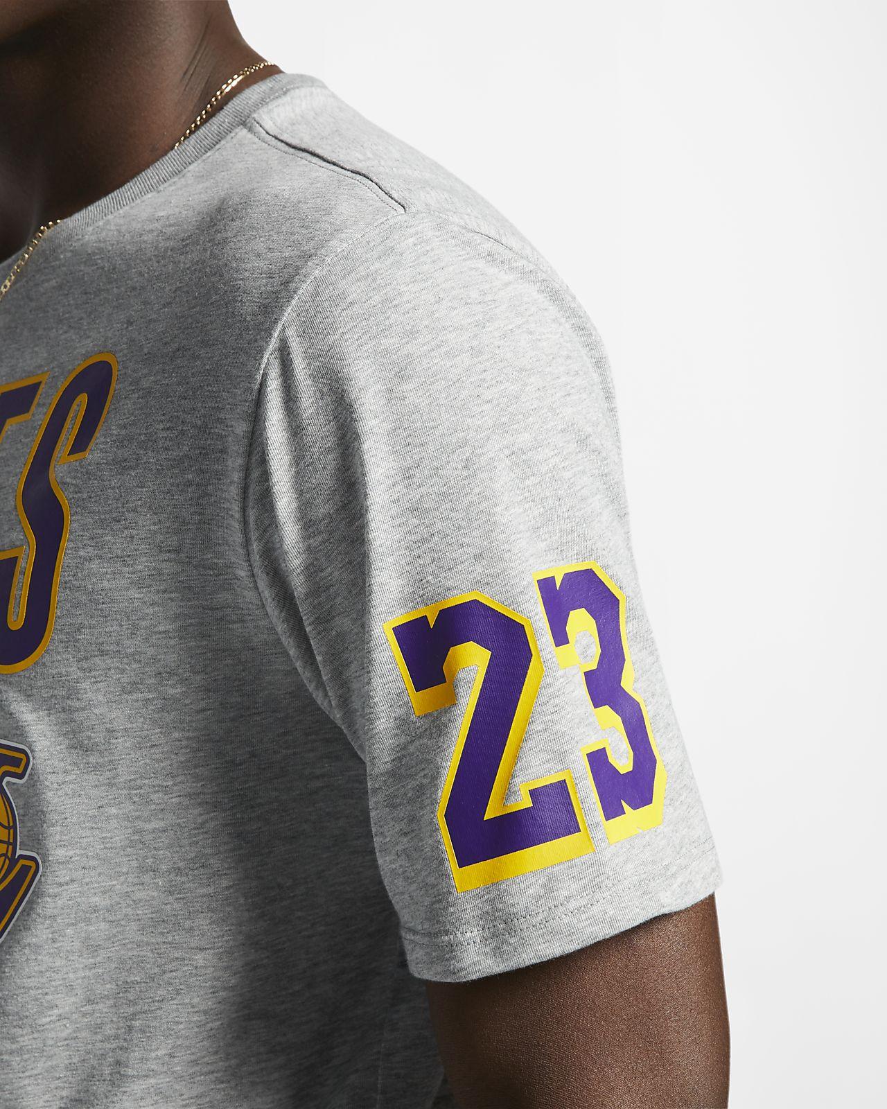 78cfbefd953 Los Angeles Lakers Nike Dri-FIT Men s NBA T-Shirt. Nike.com GB