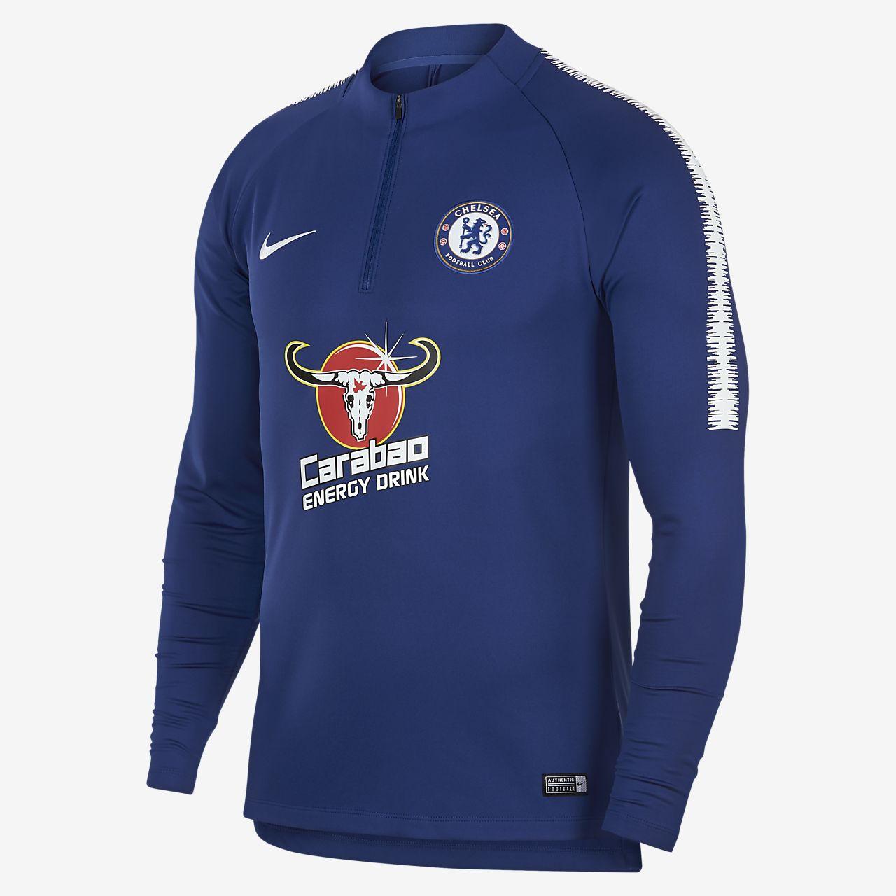 Chelsea FC Dri-FIT Squad Drill langermet fotballoverdel til herre