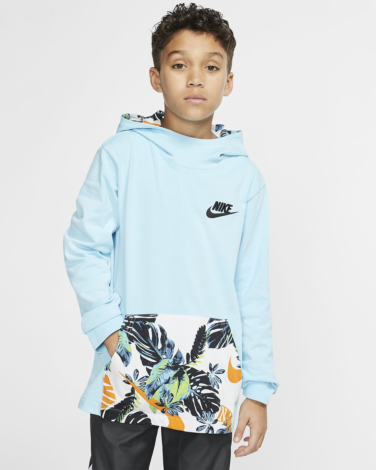 Μπλούζα με κουκούλα και φερμουάρ στο μισό μήκος Nike Sportswear για μεγάλα παιδιά