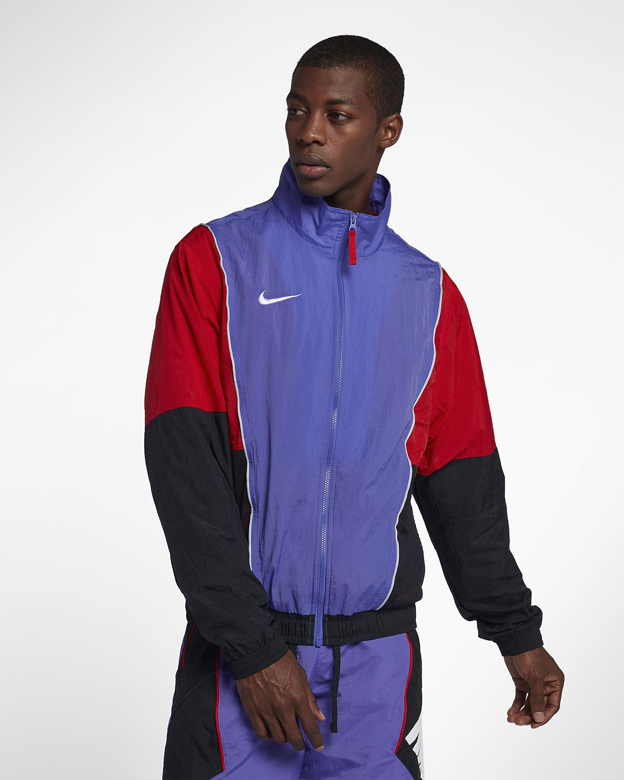 bff2af3928 Nike Throwback Men s Tracksuit Basketball Jacket. Nike.com