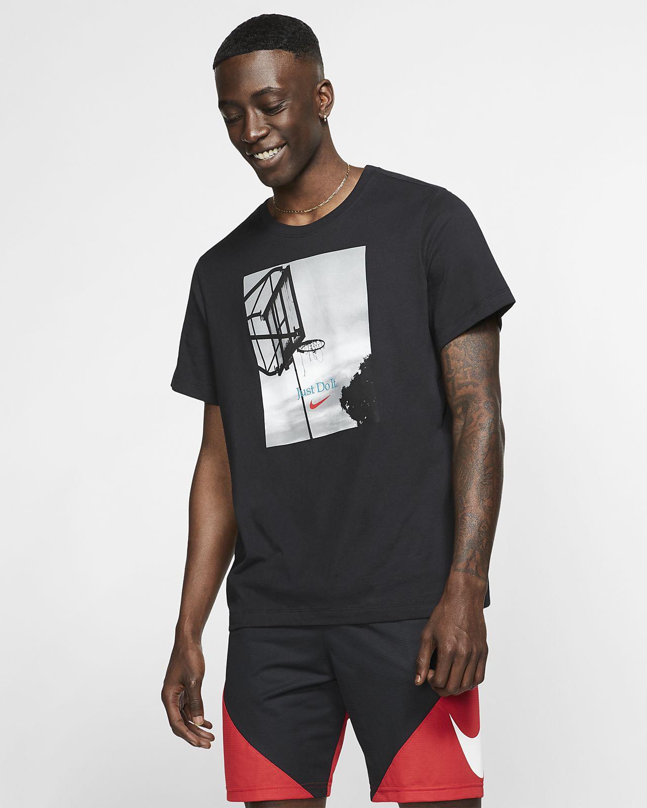 """Nike Dri-FIT """"Just Do It."""" Basket-t-shirt för män"""