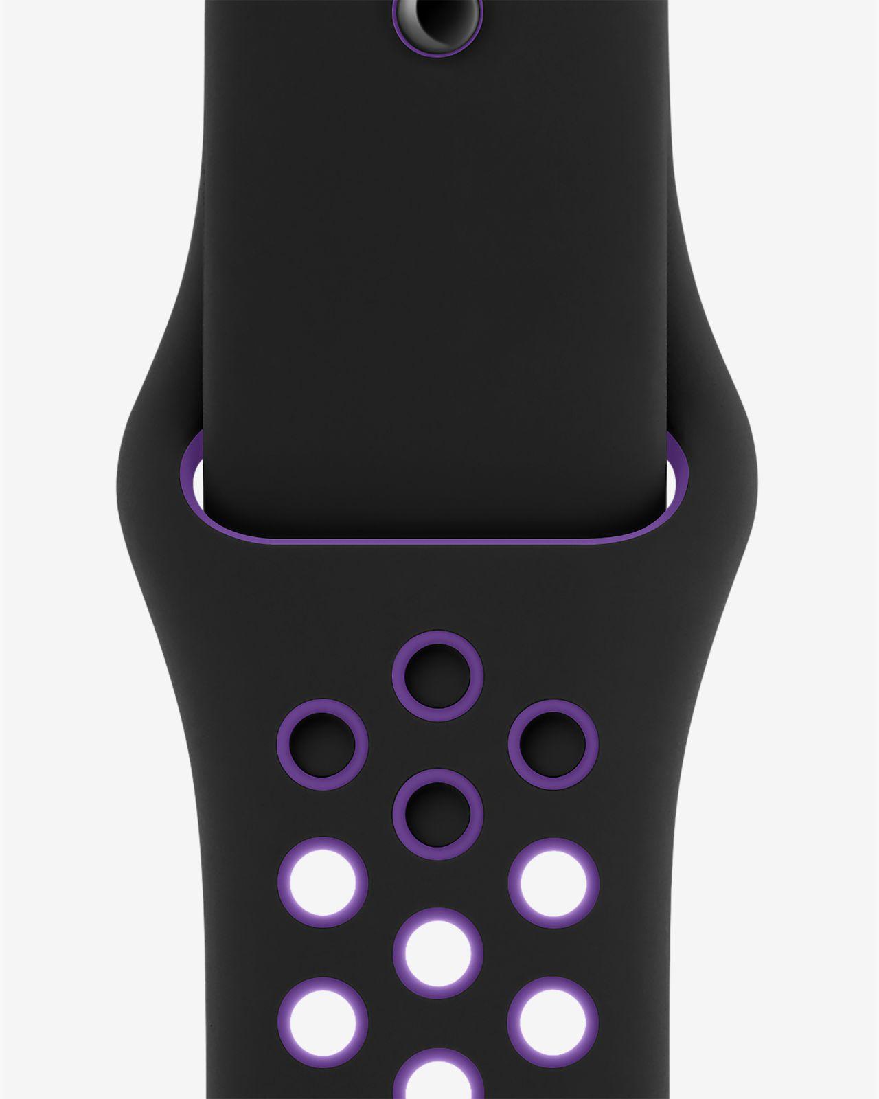 Sport Band 40 mm Svart/Hyper Grape Nike (S/M och M/L)