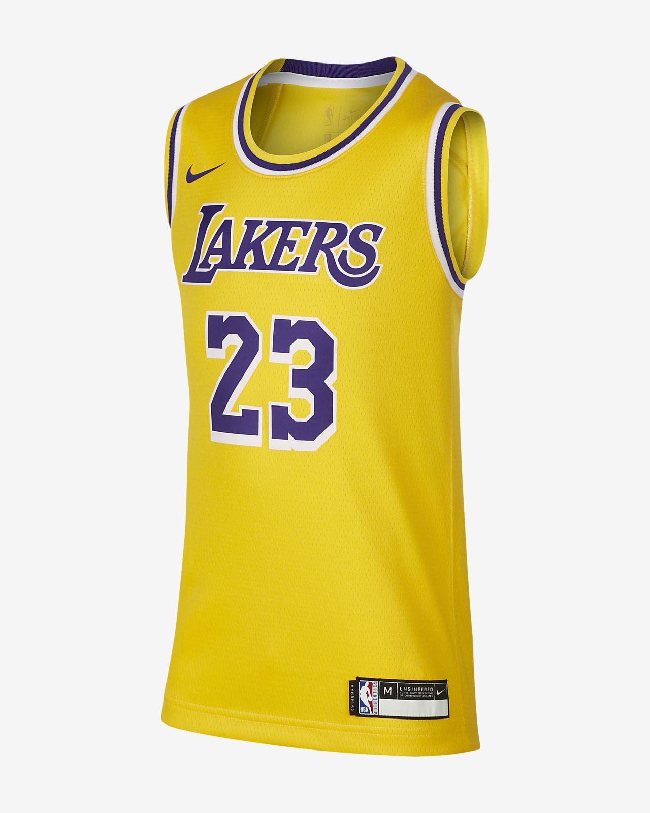 Maillot Nike NBA Icon Edition Swingman (Los Angeles Lakers) pour Enfant plus âgé
