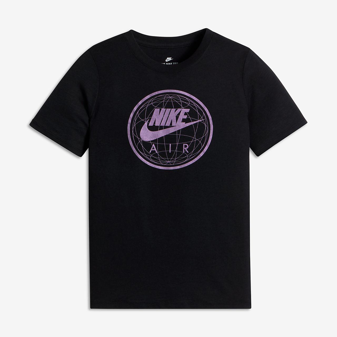 Nike Sportswear Air World Big Kids' T-Shirts Black