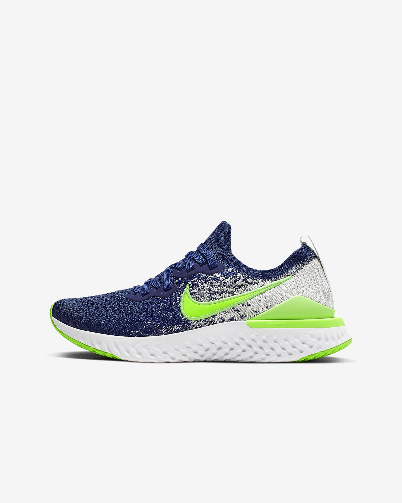 info for aff06 c99b2 Nike Epic React Flyknit 2 Big Kids' Running Shoe