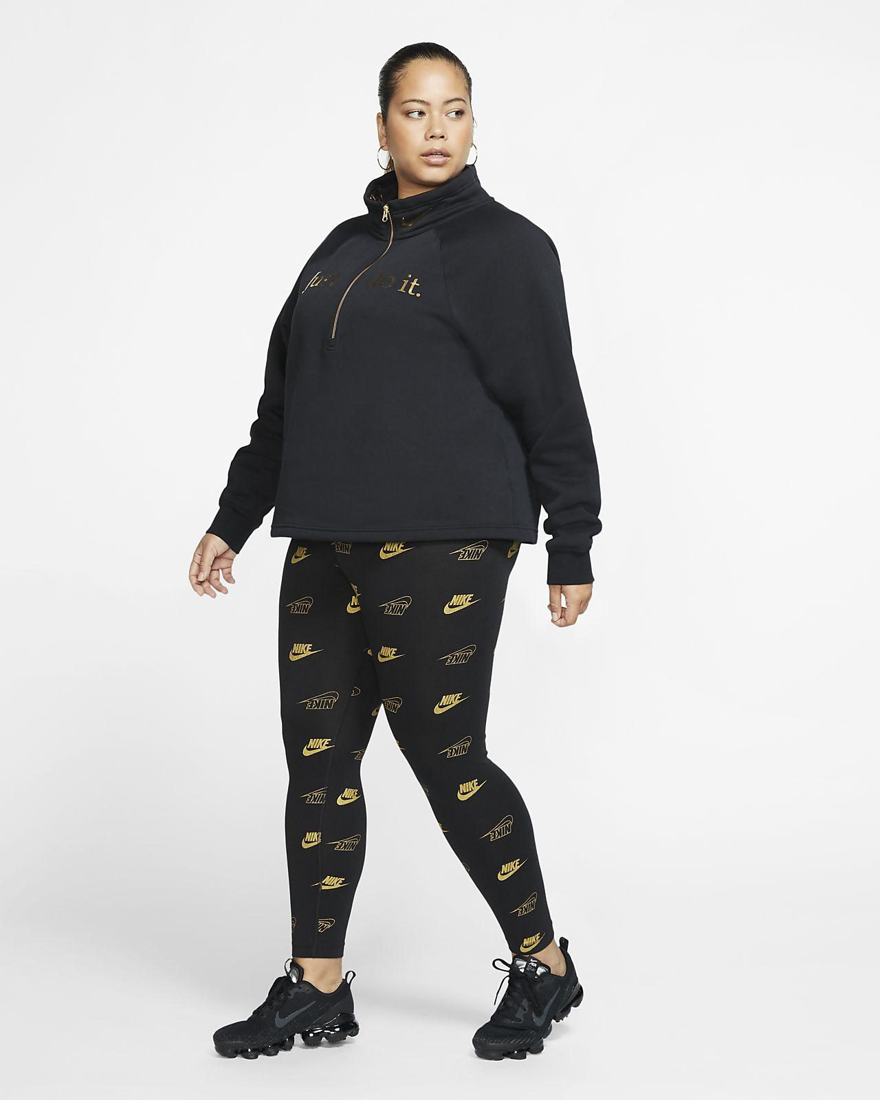 Dámské legíny Nike Sportswear s potiskem (větší velikost)