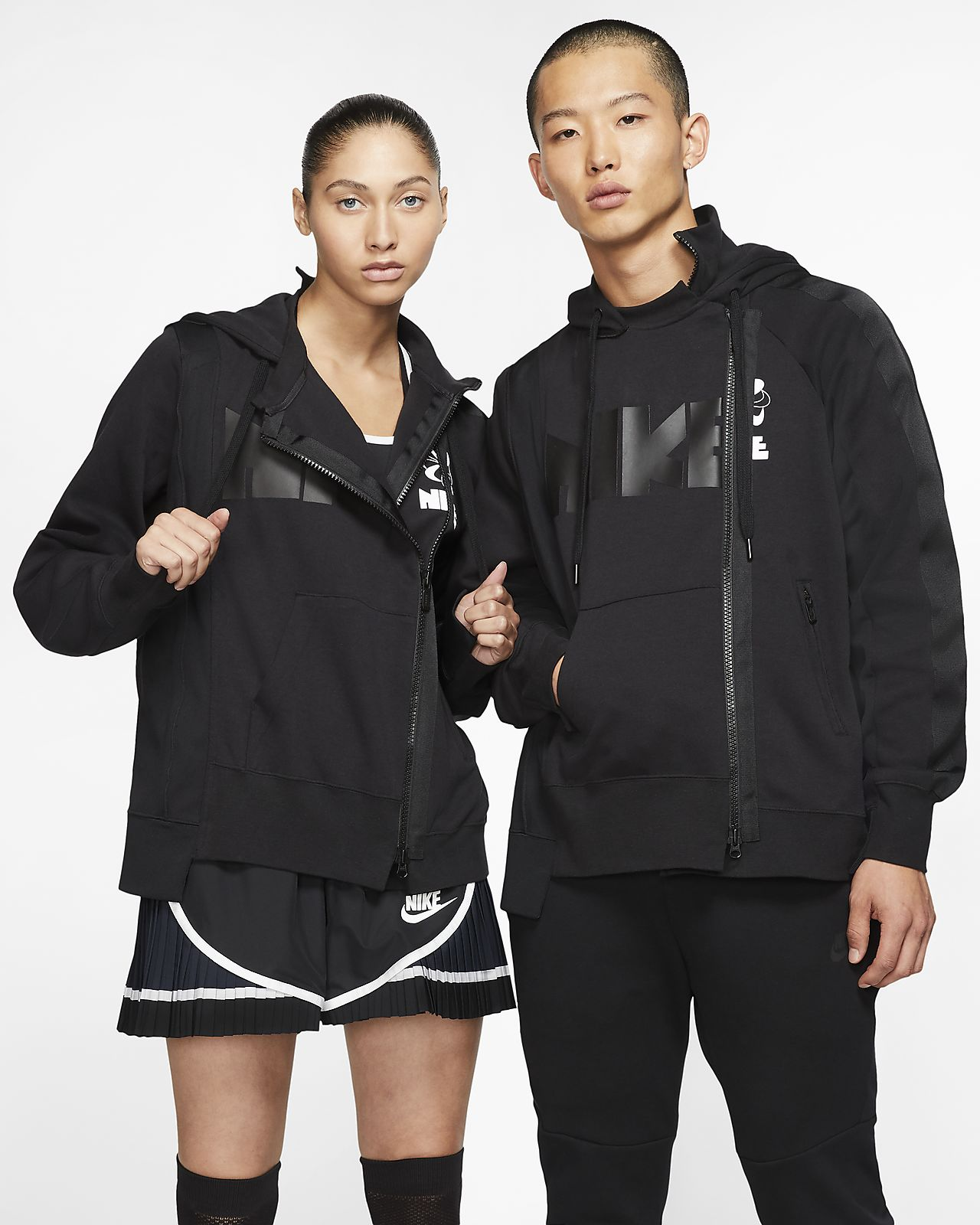 Nike x Sacai Double-Zip Hoodie