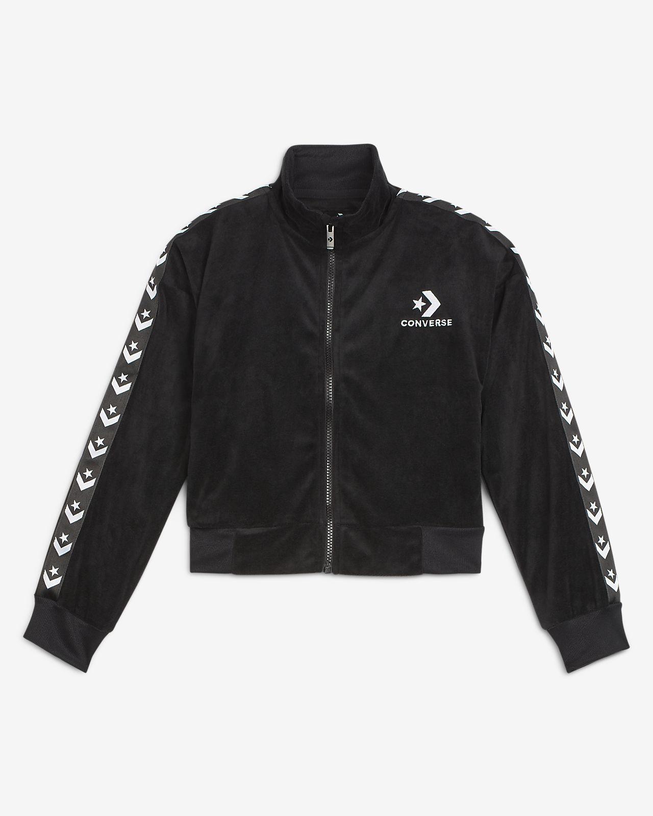 Converse Star Chevron Big Kids' (Girls') Velour Track Jacket