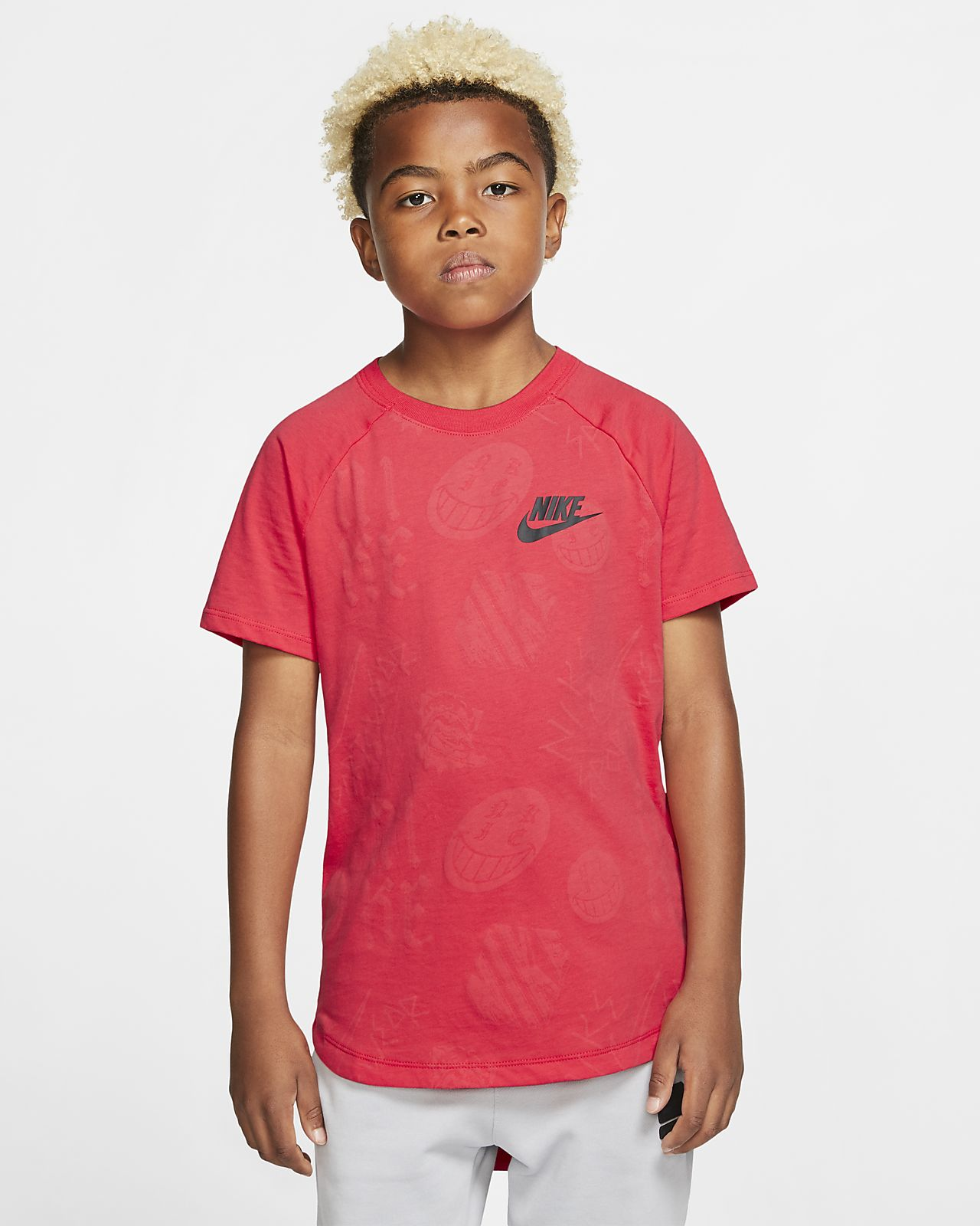 Nike Sportswear Older Kids' (Boys') Graphic Top