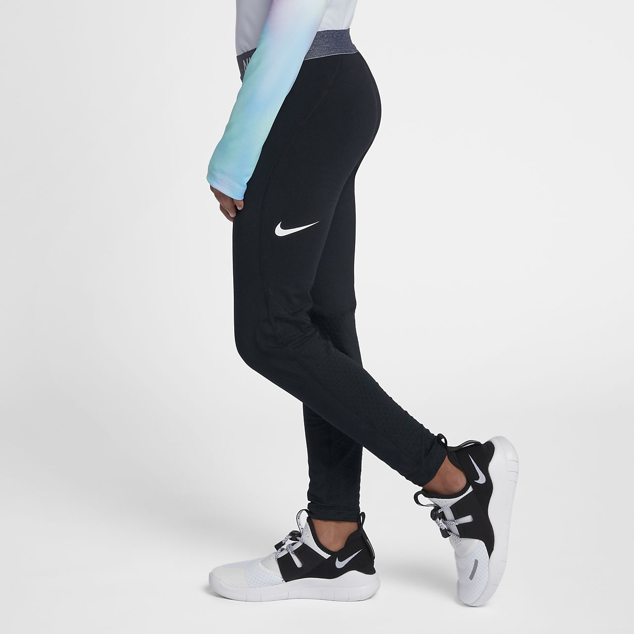 Nike Pro Warm Older Kids' (Girls') Training Tights