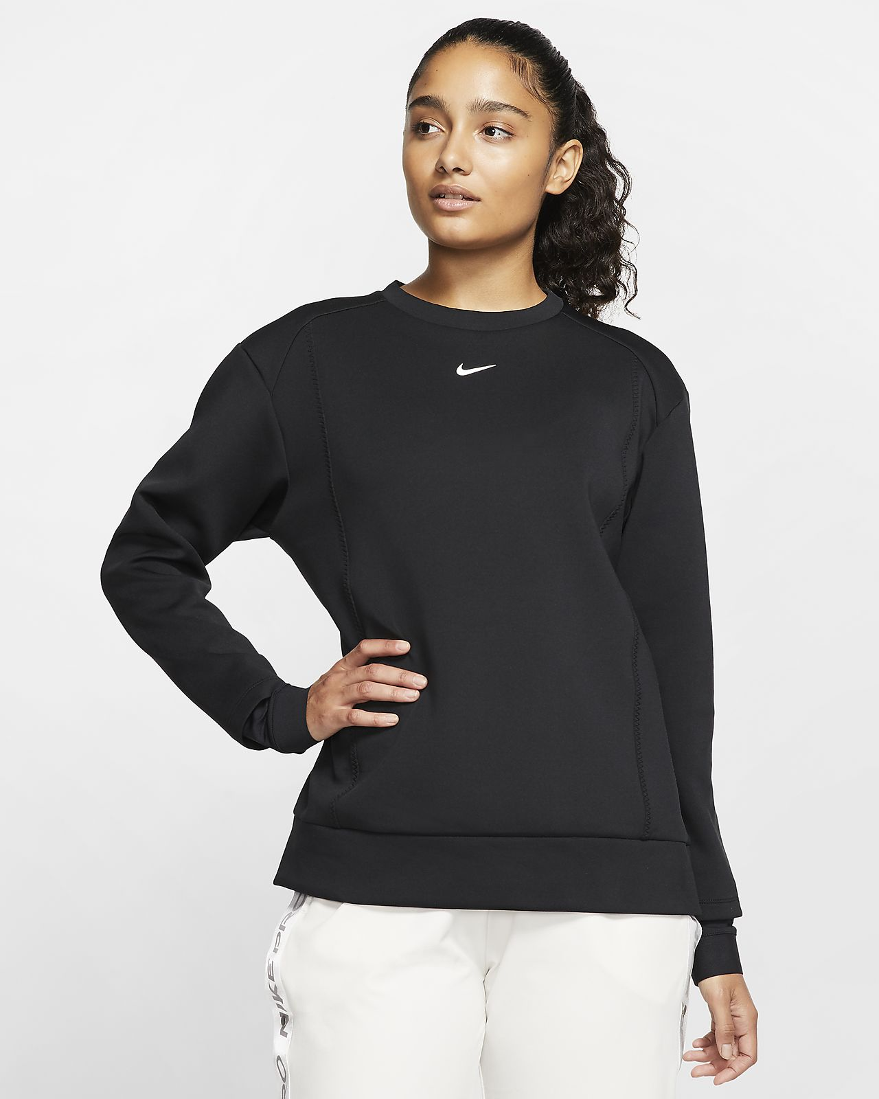 Haut en tissu Fleece Nike Pro pour Femme