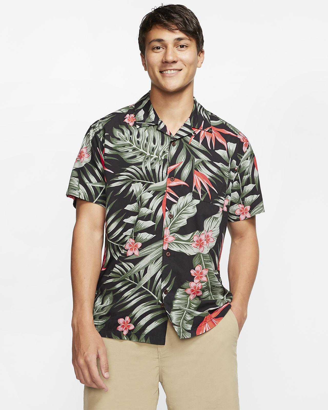 Hurley Party Wave Kısa Kollu Erkek Gömleği