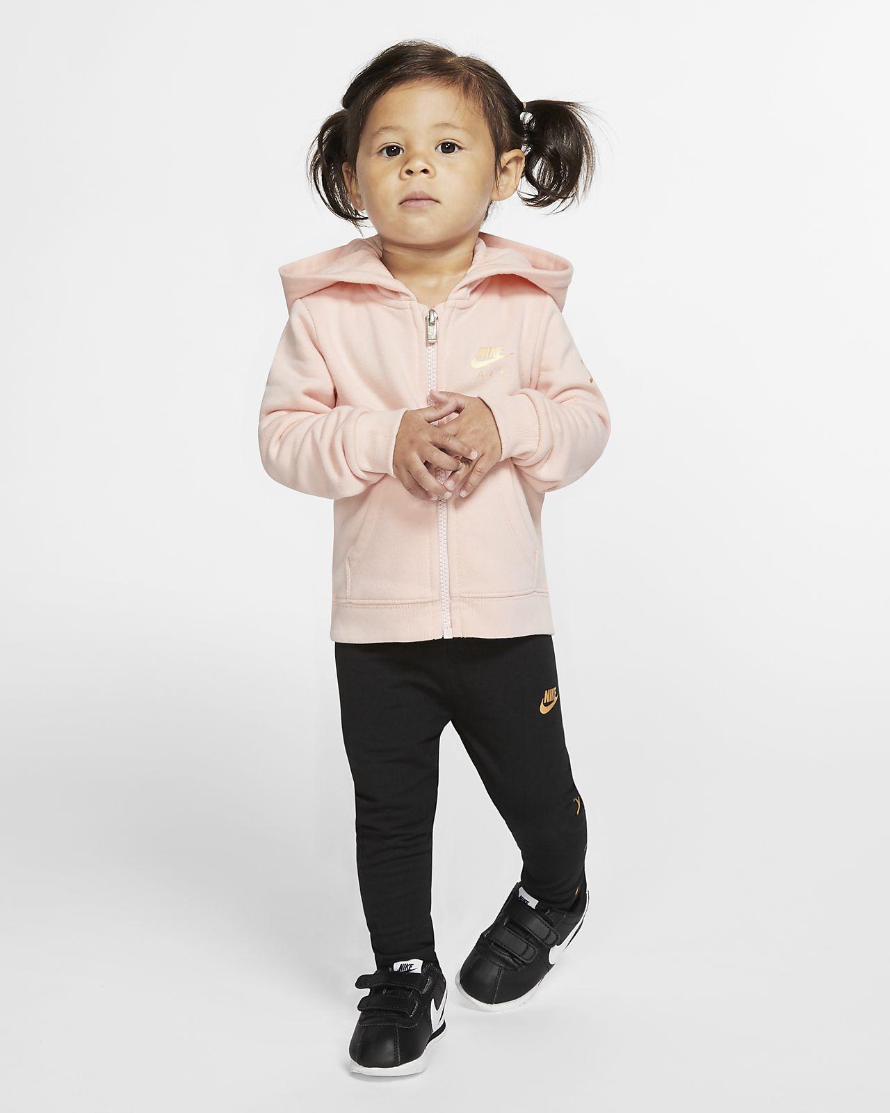 Nike Air-2-delt sæt med hættetrøje & leggings til babyer