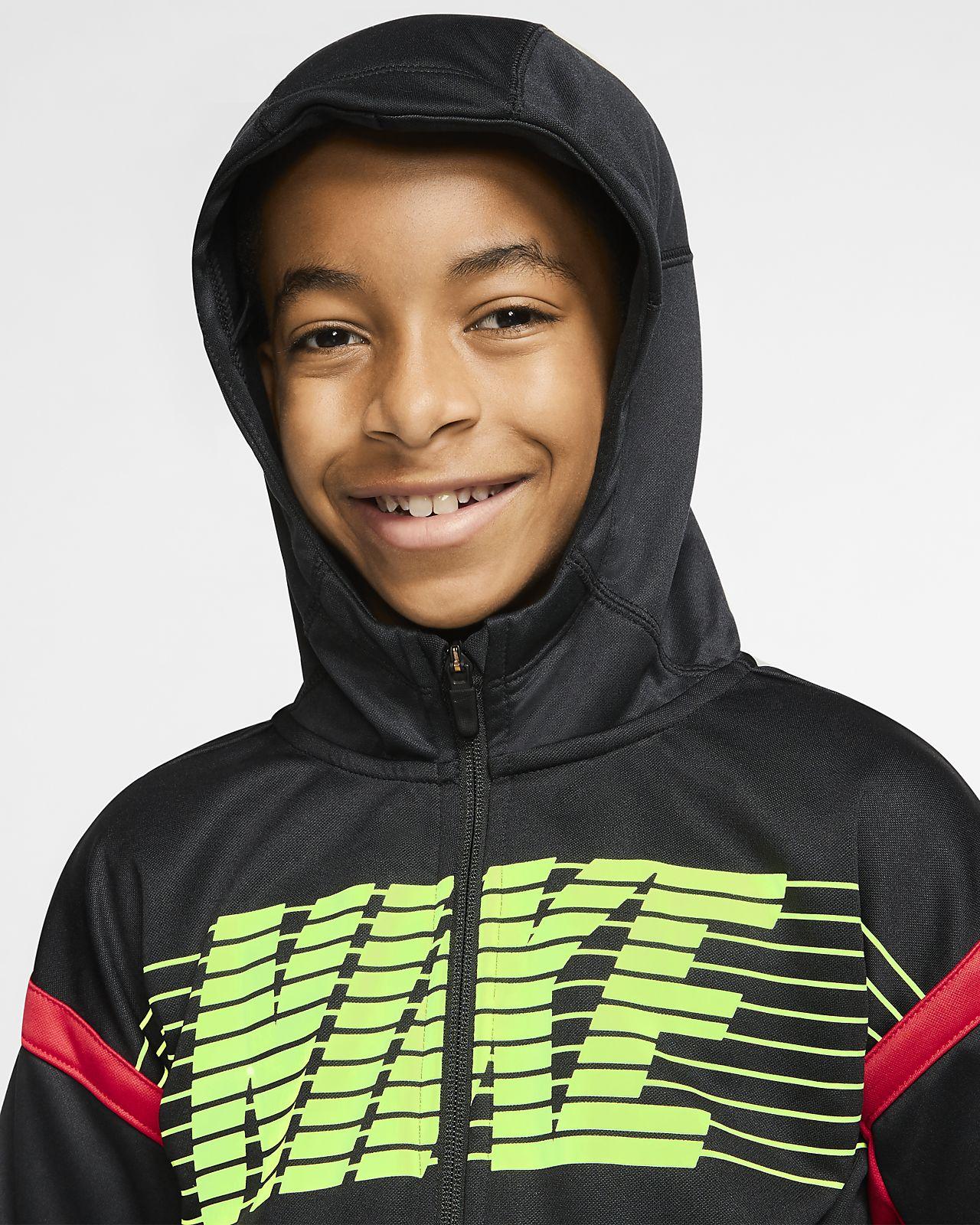 Nike Therma Big Kids' (Boys') Full Zip Graphic Training Hoodie
