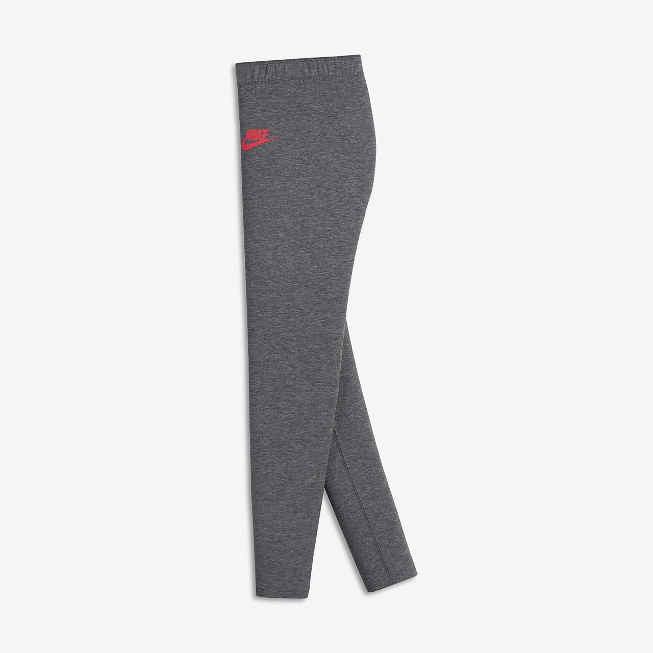 Nike Sportswear Leg-A-See Big Kids' Leggings Carbon Heather