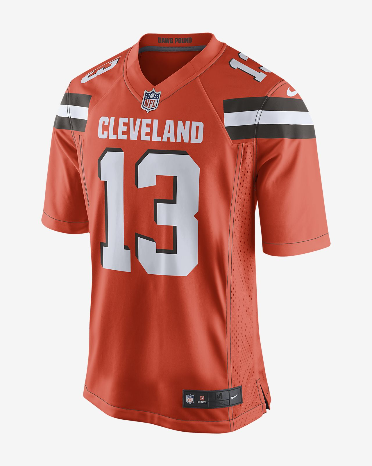 free shipping b8d91 2d352 NFL Cleveland Browns (Odell Beckham Jr.) Men's Game Football Jersey