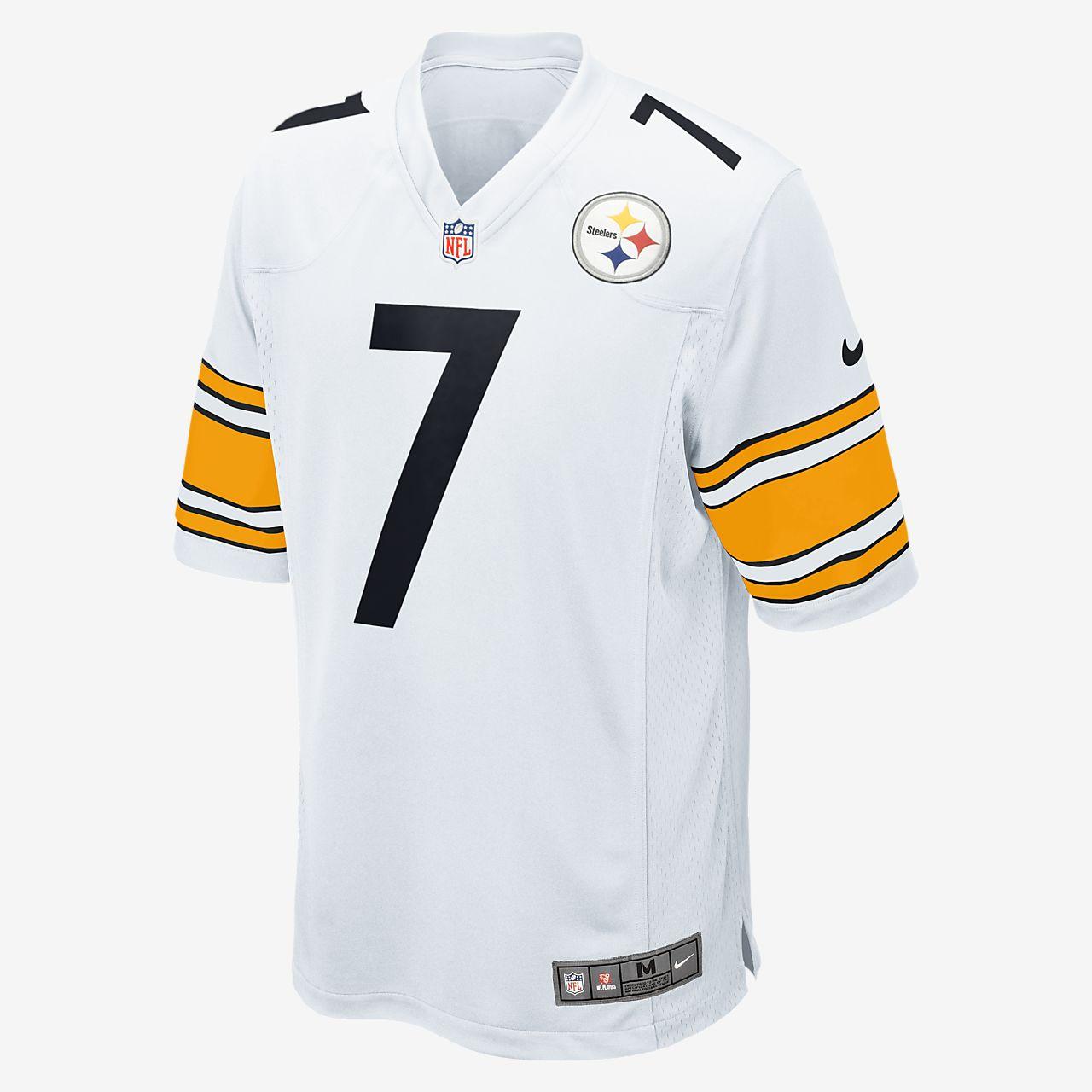 NFL Pittsburgh Steelers (Ben Roethlisberger) Men's Football Away Game Jersey