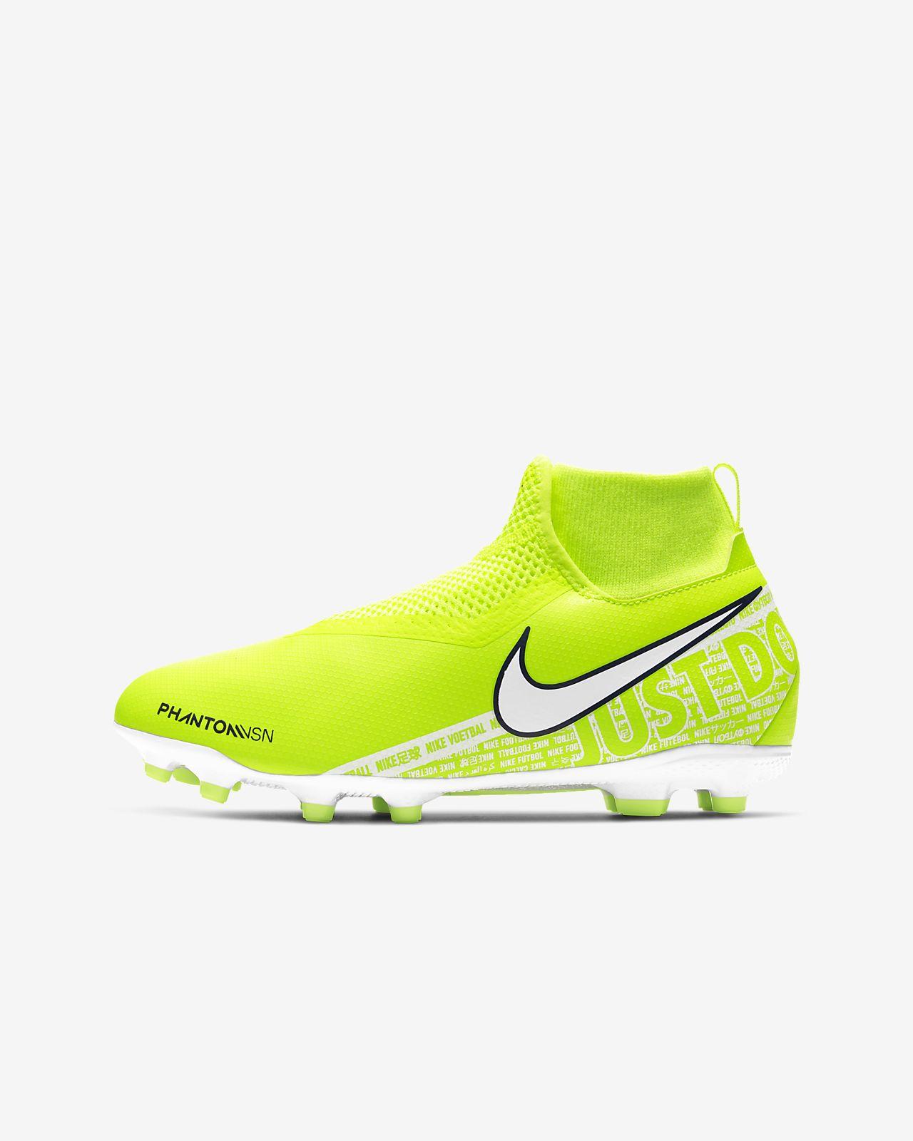 Calzado de fútbol para múltiples superficies para niños talla pequeña/grande Nike Jr. Phantom Vision Academy Dynamic Fit MG