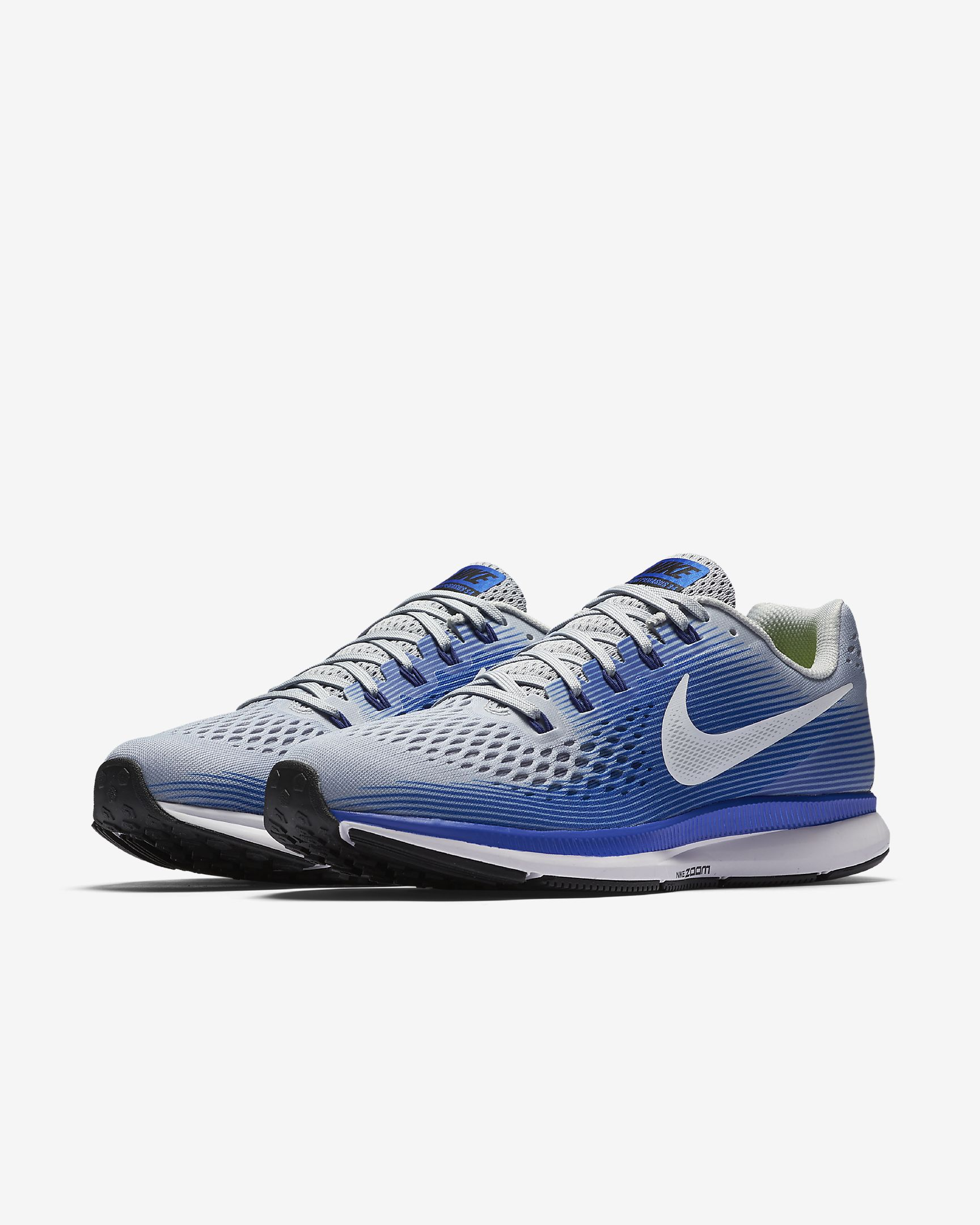 Nike Air Zoom Pegasus 34 Wolf Grey  Racer Blue  Deep Royal