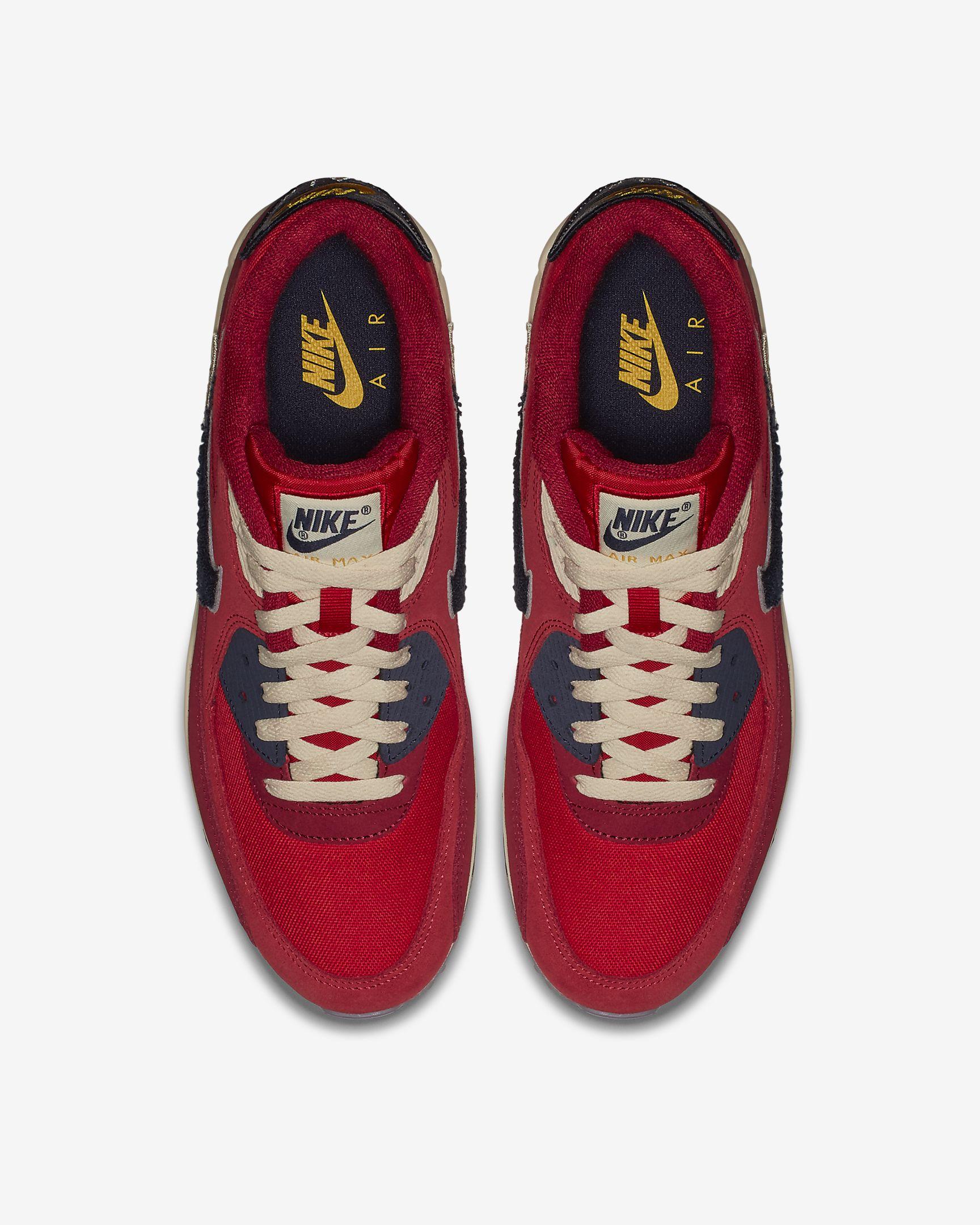 Nike Air Max 90 Premium SE 'Chenille Swoosh' (University Red