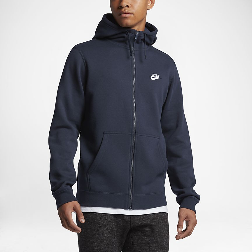 Zipped hoodie with high neck hood - front view