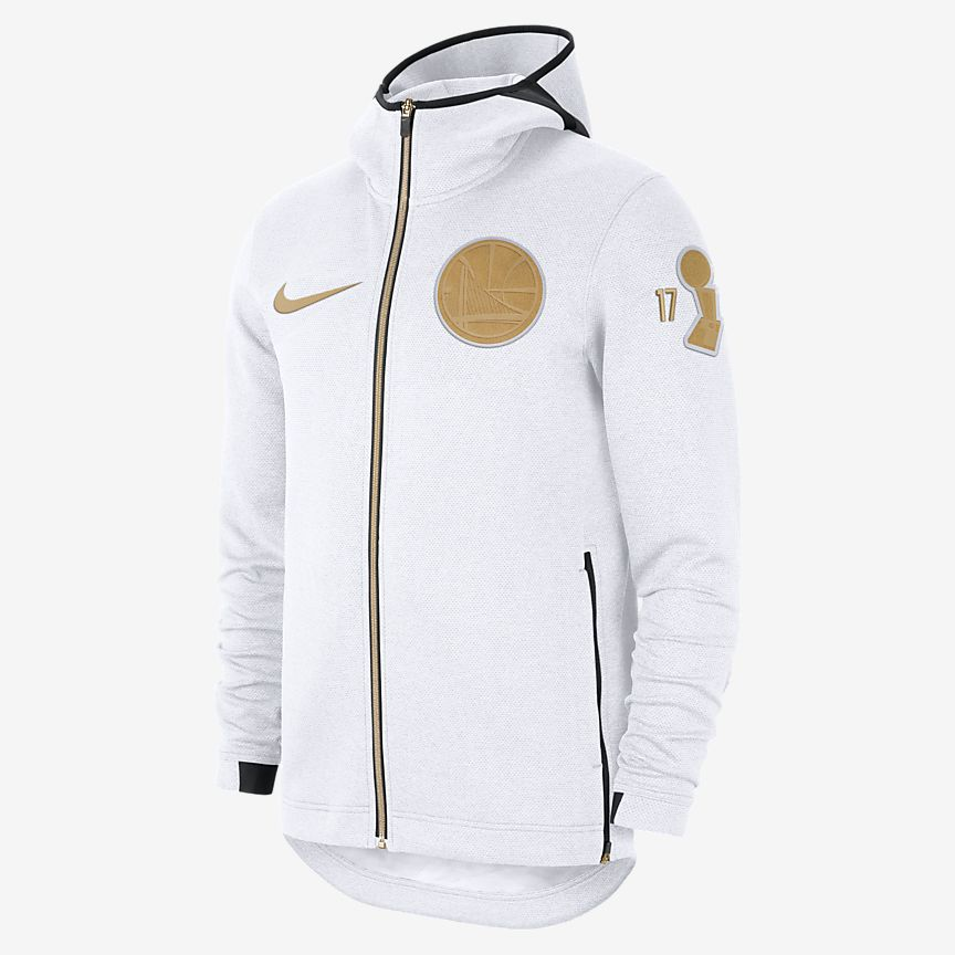 61709e552 usa nike golden state warriors therma flex showtime mens nba hoodie white  pure platinum white gold
