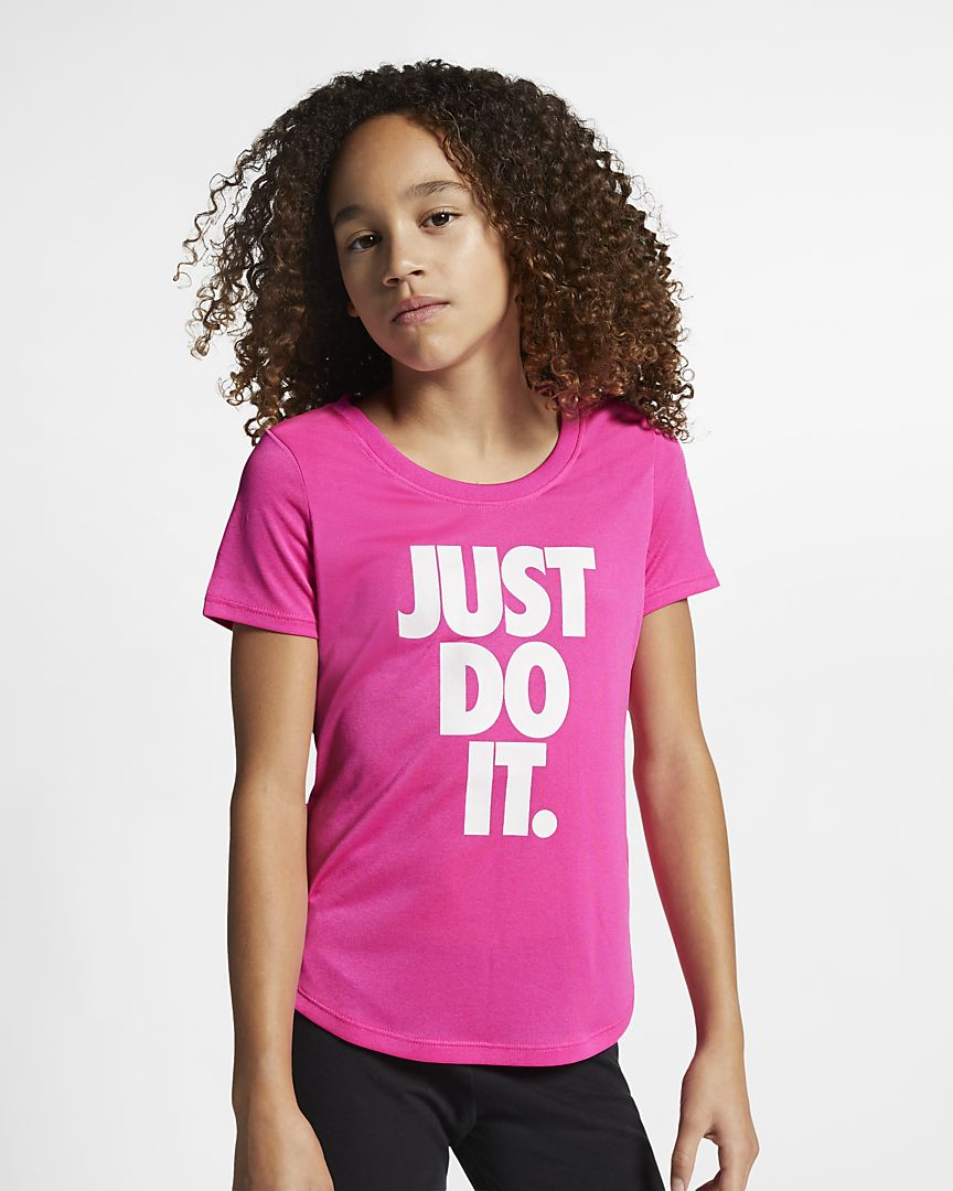 Nike - dri-fit older  (girls') training t-shirt - 1