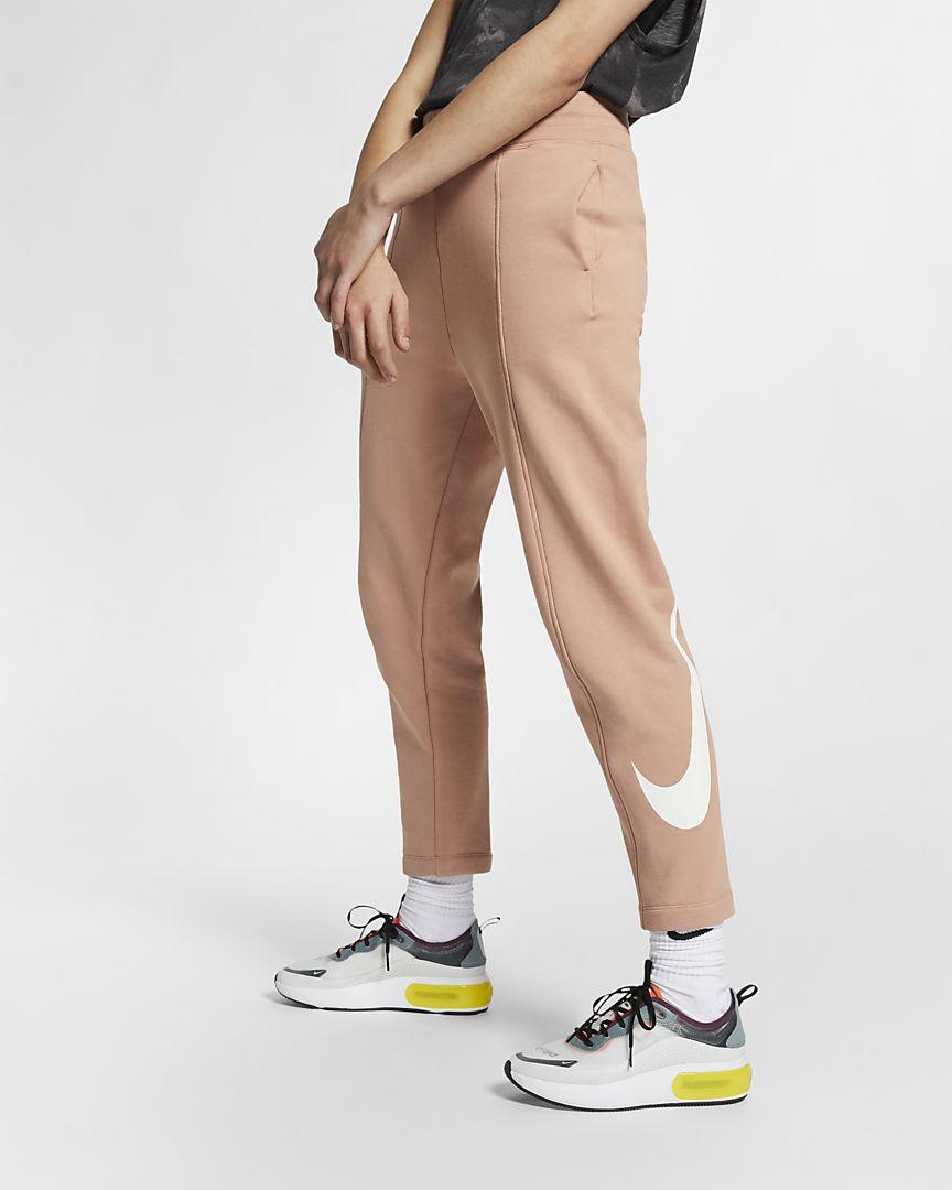 Nike - sportswear swoosh french terry trousers - 1