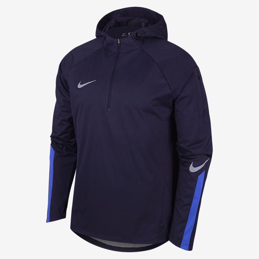 Nike - Nike Shield Squad Drill Camiseta de fútbol con cremallera de un cuarto - Hombre - 1