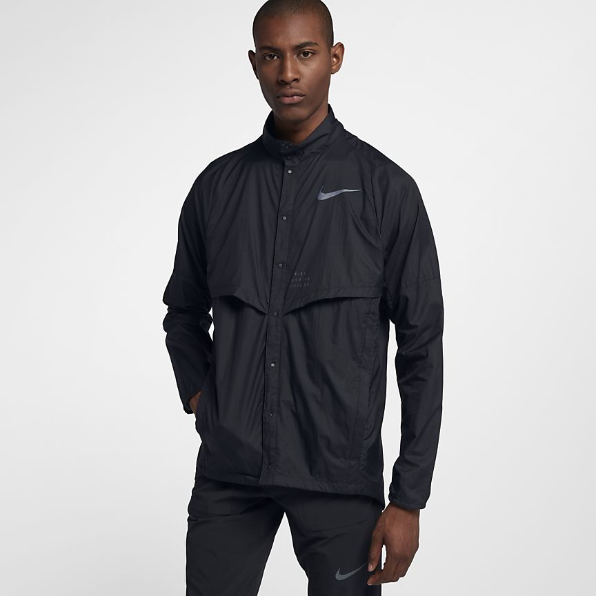 35a13804632c79 Details about Nike Run Division Men s Running Jacket in Black RRP £104.95