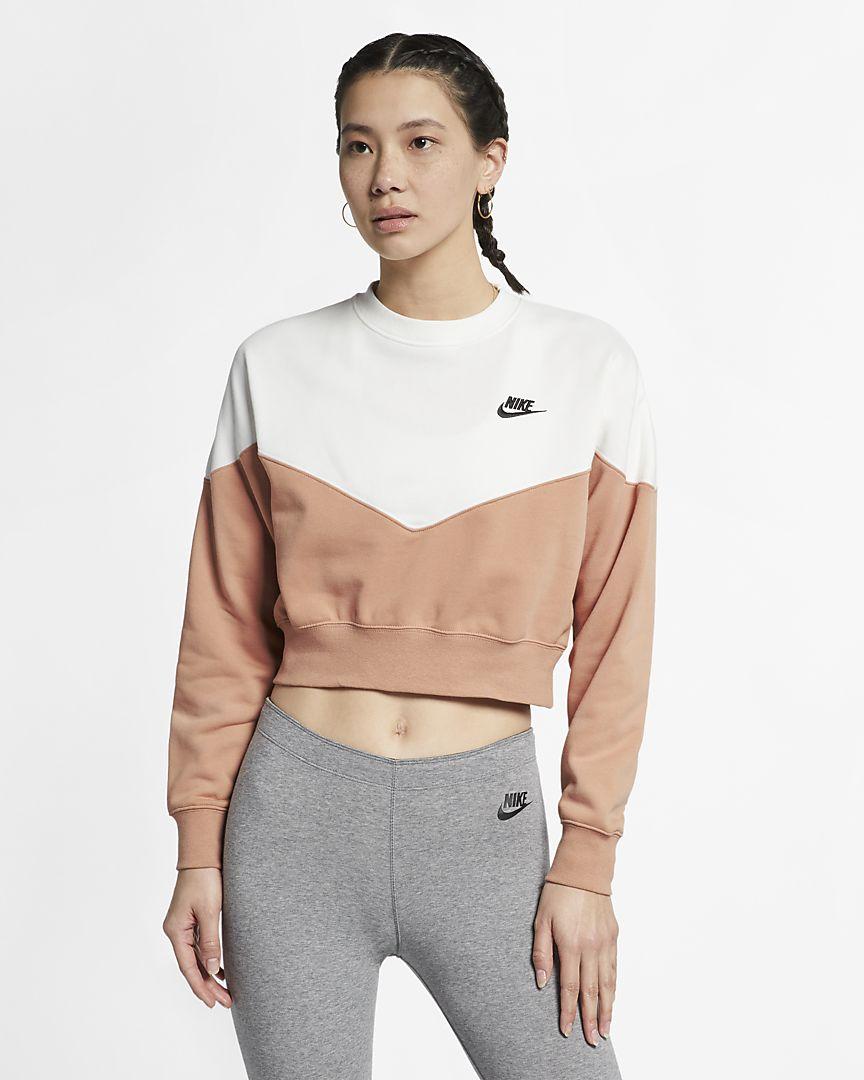 Nike - sportswear heritage  fleece crew - 1