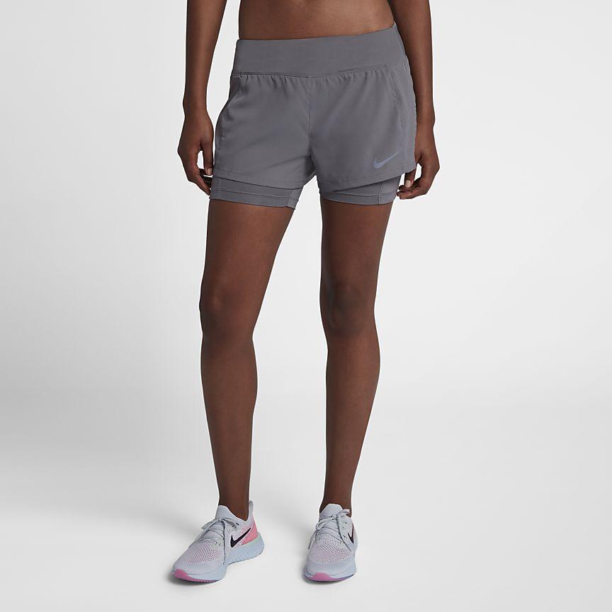 Nike - Nike Eclipse 2-in-1-Laufshorts für Damen - 1