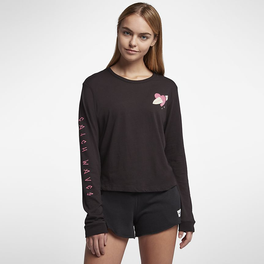 Nike - Hurley Catch Feelings Perfect Langarm-T-Shirt für Damen - 1