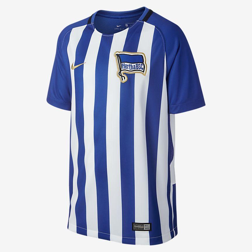 Nike - 2017/18 Hertha BSC Stadium Home Camiseta de fútbol - Niño/a - 1