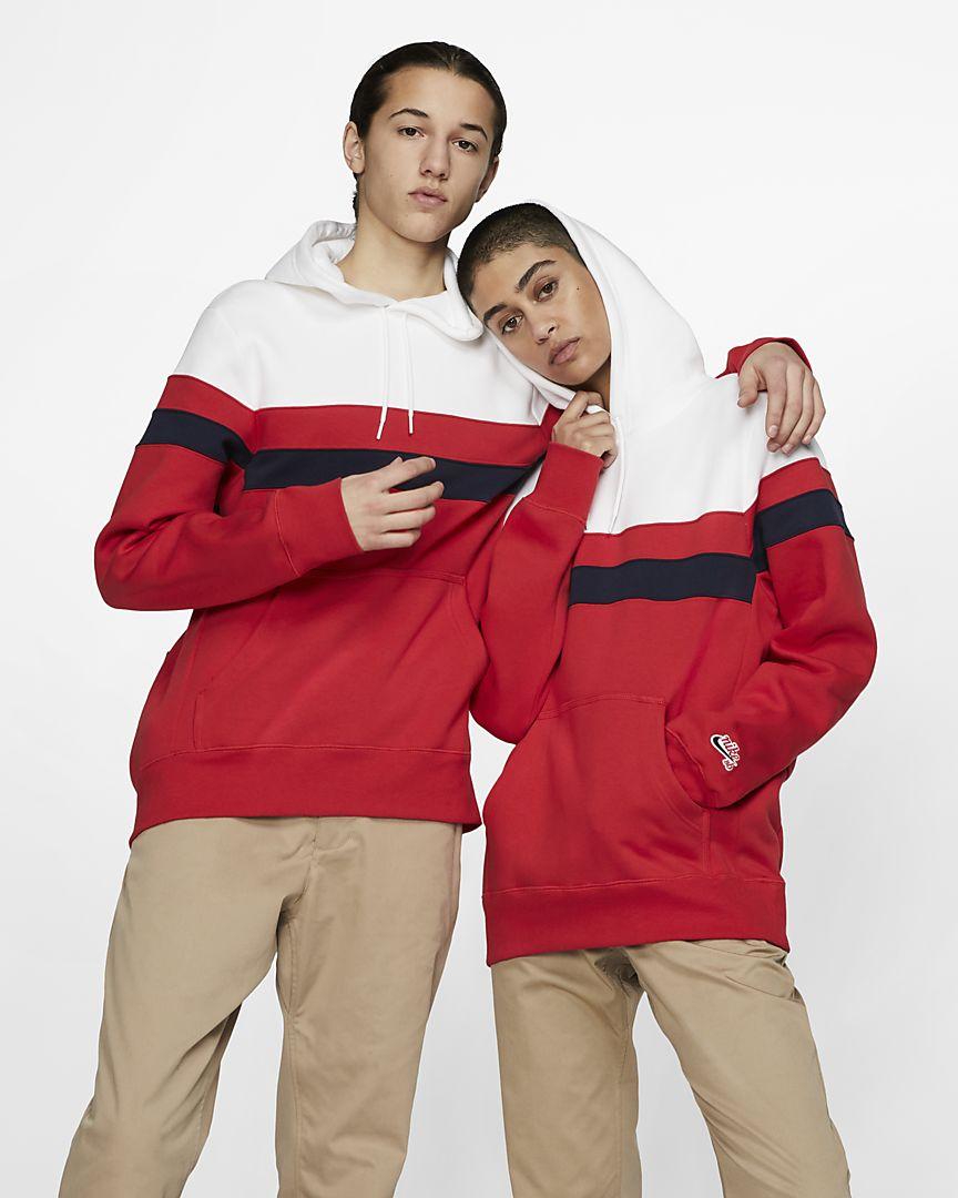 Nike - sb icon striped skate hoodie - 1